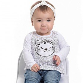 blusa bebe feminino meia malha branco 4105 6915
