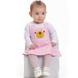 vestido bebe feminino cotton branco sorvete 4107 6921