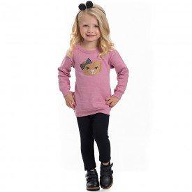 conjunto infantil feminino blusa moletom nostalgia e leggin molecotton 4117 6951