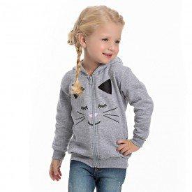 jaqueta infantil feminina moletom mescla 4123 6968