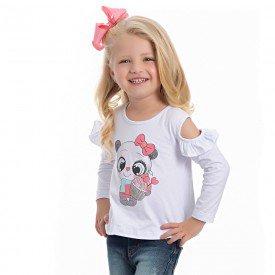 blusa infantil feminina cotton branca 4124 6971