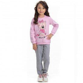 conjunto infantil feminino blusa moletom sorvete e calca mescla 4130 6989