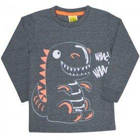 camiseta infantil masculina dino mescla 38023 6761