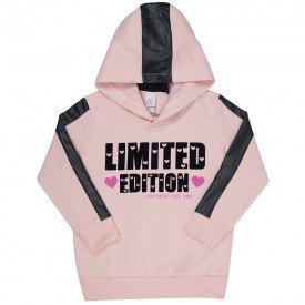 blusao infantil menina limited rosa cha preto 4005 7753