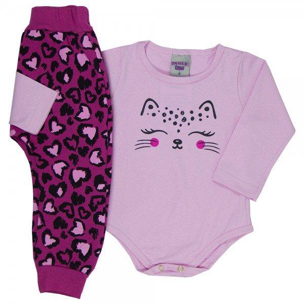conjunto body infantil feminino 6910