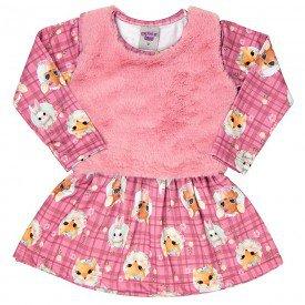 vestido infantil feminino colete pelo 6940
