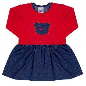vestido jeans infantil feminino bolero 6949