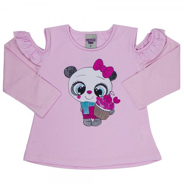 blusa infantil feminina cotton sorvete 4124 6973