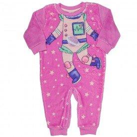 macacao infantil feminino space em pelo rosa 11419