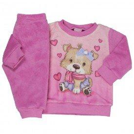 conjunto infantil feminino love em pelo rosa 11381 8250