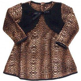 vestido infantil feminino em pelo oncinha preto 11393 8254 1
