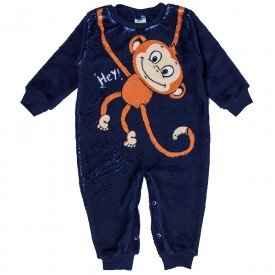 macacao bebe masculino monkey marinho 11475 8270