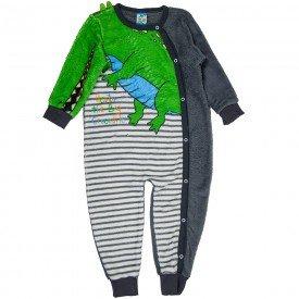 macacao infantil masculino crocodilo interativo verde chumbo 11495 8280
