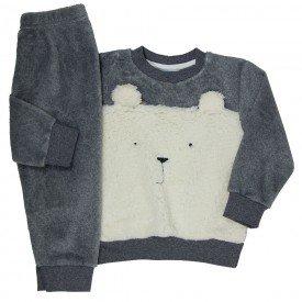 conjunto infantil masculino em pelo e alpaca cinza 11480 8276