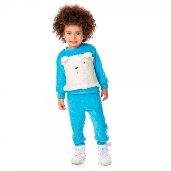 conjunto infantil masculino em pelo e alpaca cinza 11480 8277