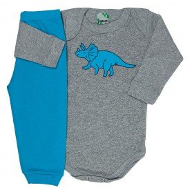 conjunto body e mijao triceratops dinossauro 1521 8228