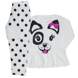 conjunto infantil menina soft pet off white 1172 6480
