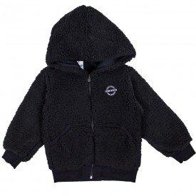 jaqueta infantil menino de carneirinho preta 6618 7470