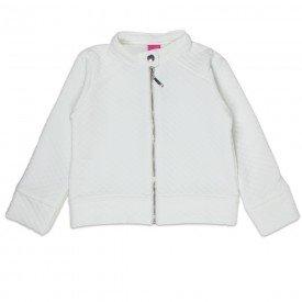jaqueta infantil menina bomber matelasse off white 1213 2210 8076