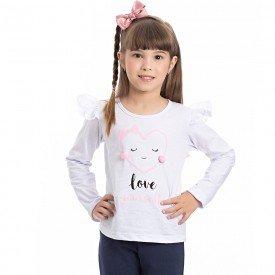 camiseta infantil menina 7016
