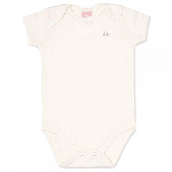 body bebe feminino manga curta suedine marfim 9002 7334