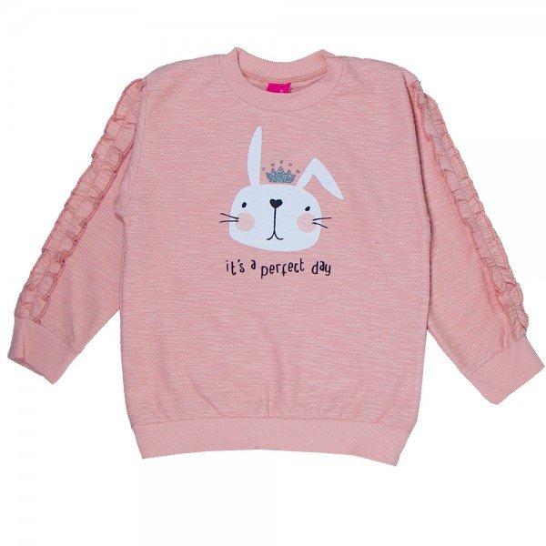 blusa infantil menina flame coelho rosa cha 1214 8081