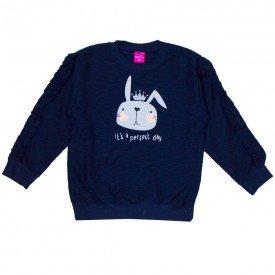 blusa infantil menina flame coelho marinho 1214 8080