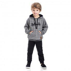 conjunto infantil menino authentic mescla grafite preto 5311 8159