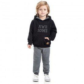 conjunto infantil menino awesome gorgurao preto mescla grafite 5312 8162