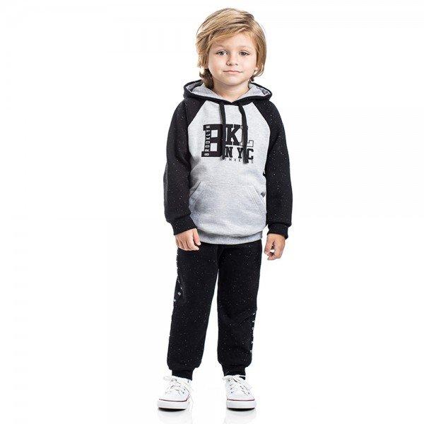 conjunto infantil menino brooklyn mescla preto 5314 8168