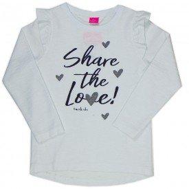 blusa infantil menina share love off white 2211 8114