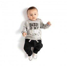 conjunto bebe menino daddy hero mescla preto 4072 8123