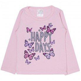 blusa infantil rosa borboleta happy days 1201 1