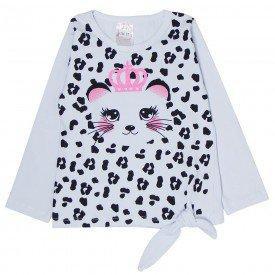 blusa infantil branca oncinha 1206
