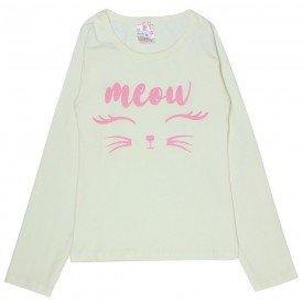 blusa infantil marfim meow 1272