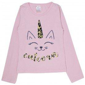 blusa infantil rosa catcorn 1211