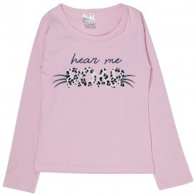 blusa infantil rosa roar 1220