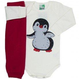 conjunto body off white pinguim e calca vermelha 1607 8533