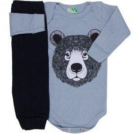 conjunto body cinza urso e calca preta 1608 8534