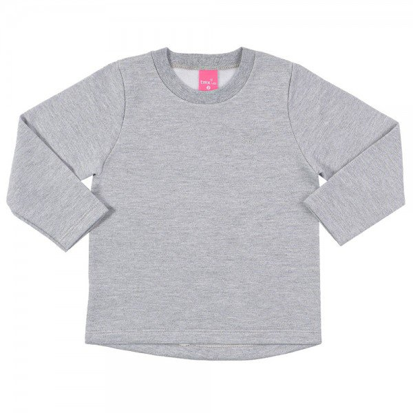 blusa infantil feminina moletom mescla 9107 7359