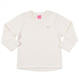 blusa infantil feminina moletom marfim 9107 7358