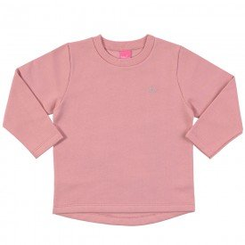 blusa infantil feminina moletom blush 9107 7357