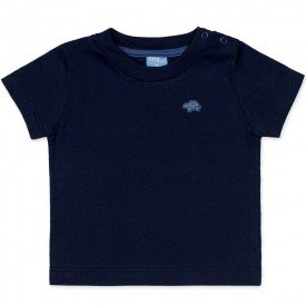 camiseta bebe masculina manga curta meia malha marinho 9402 7369
