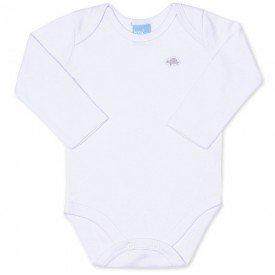 body bebe masculino manga longa suedine branco 9404 7376
