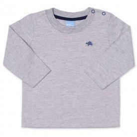camiseta bebe masculina manga longa meia malha mescla 9405 7378