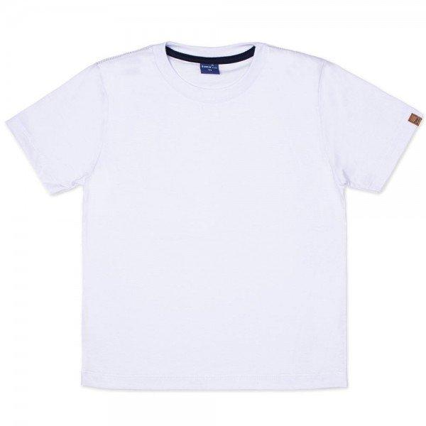 camiseta infantil masculina manga curta meia malha branca 9501 7387