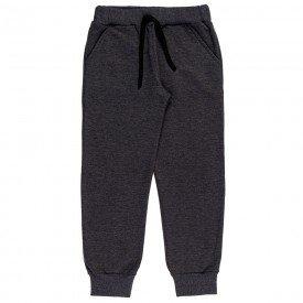 calca infantil masculina jogger moletom mescla 9505 7400