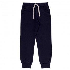 calca infantil masculina jogger moletom marinho 9505 7401