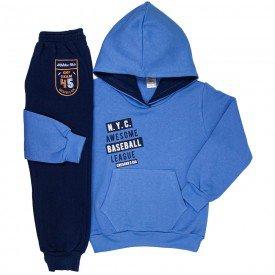 abrigo de frio conjunto infantil masculino moletom moletom nyc cobalto marinho 9248 9232 8463