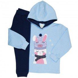 conjunto de abrigo moletom menina 8413